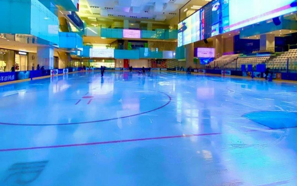 اولین پیست استاندارد هاکی روی یخ در ایران (پیست یخ ایران مال) توسط شرکت پیشگامان تجارت و توسعه پایدار ساخته شد و در سال 98 به بهره برداری رسید.