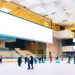 فضای پیست هاکی روی یخ